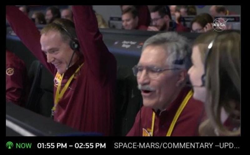 Radość w NASA (źródło: NASA/JPL)