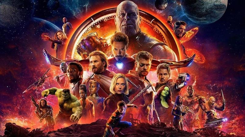 """Plakat z filmu """"Avengers: Wojna bez granic"""" (źródło: materiały prasowe)"""