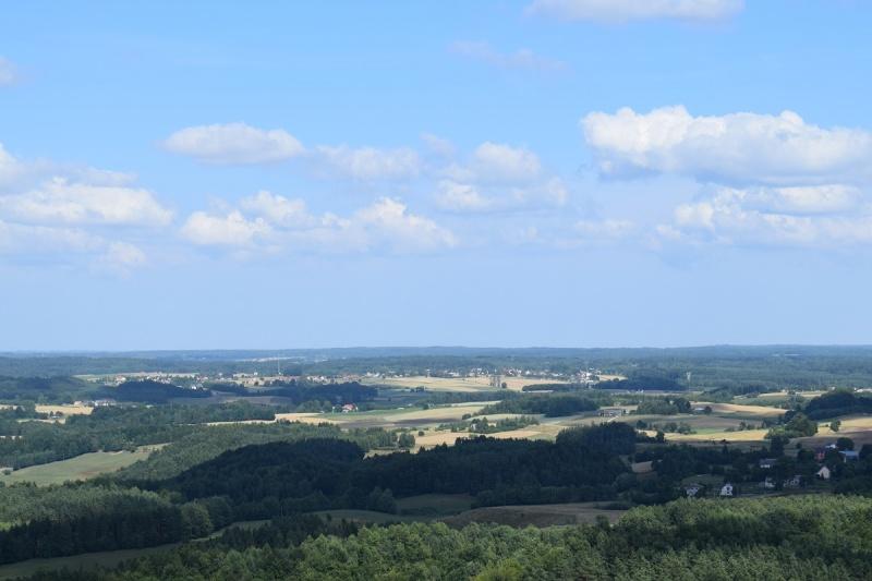 Szymbark - widok z Wieżycy (fot. PJ)