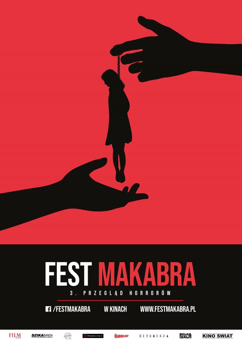 Oficjalny plakat 3. Fest Makabry (autor: Albert Krajewski)
