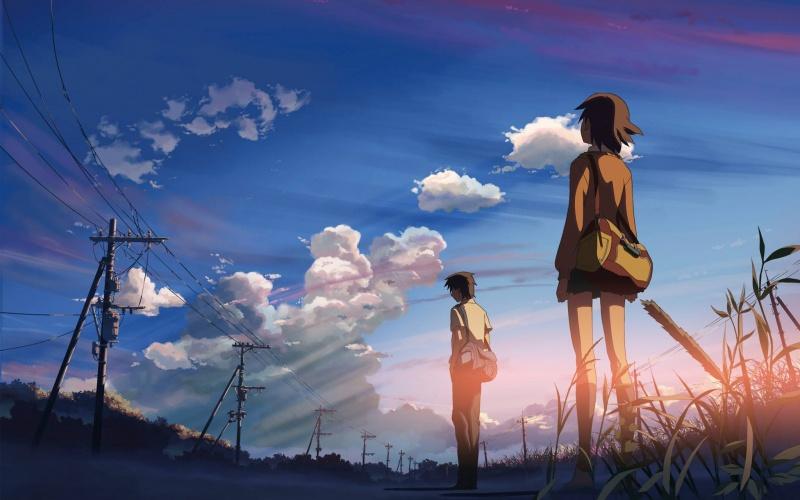 """Kadr z anime """"5 centymetrów na sekundę"""""""