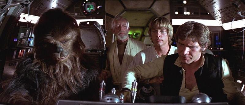 """Kadr z filmu """"Gwiezdne wojny: część IV - Nowa Nadzieja"""" (źródło: materiały prasowe)"""
