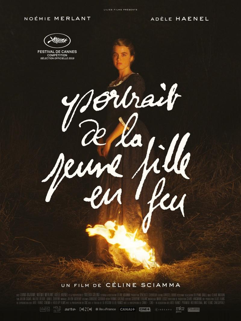 """Oficjalny poster do filmu """"Portret kobiety w ogniu"""" (źródło: materiały prasowe)"""