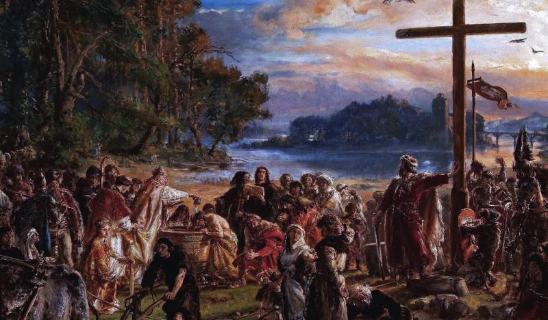 Chrystianizacja według Matejki (źródło: wikimedia.org)