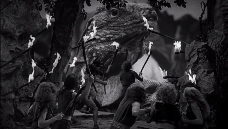 """Kadr z filmu """"Milion lat przed naszą erą"""" (1966)"""