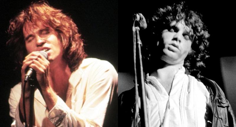 Po lewej Val Kilmer, po prawej Jim Morrison
