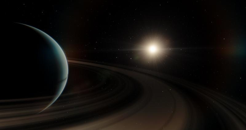 Planeta BD+14 4559 b i jej gwiazda (wizja artystyczna/wikimedia.org)