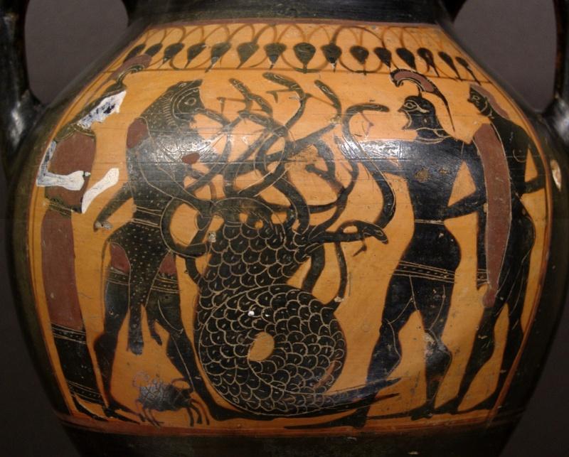 Mitologia grecka - malunek na starożytnym naczyniu (wikimedia.org)