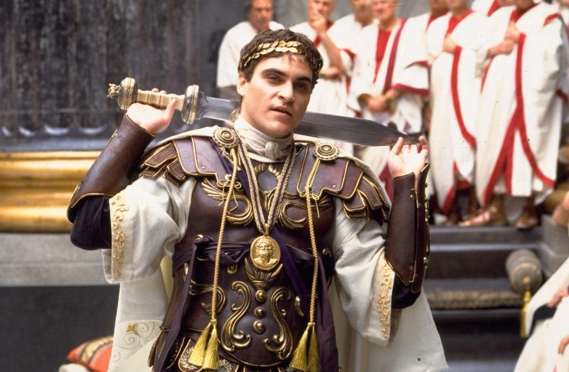 Joaquine Phoenix jako Kommodus (źródło: materiały prasowe)