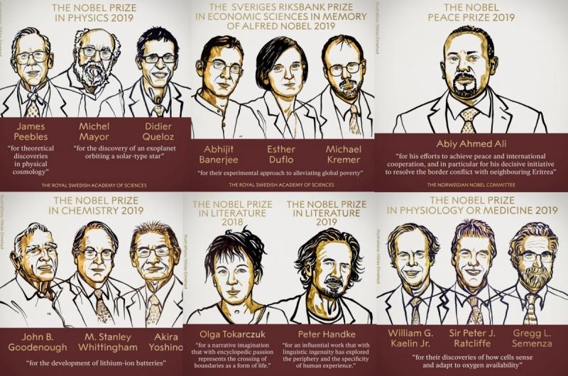 Laureaci Nagrody Nobla (źródło: nobelprize.org)