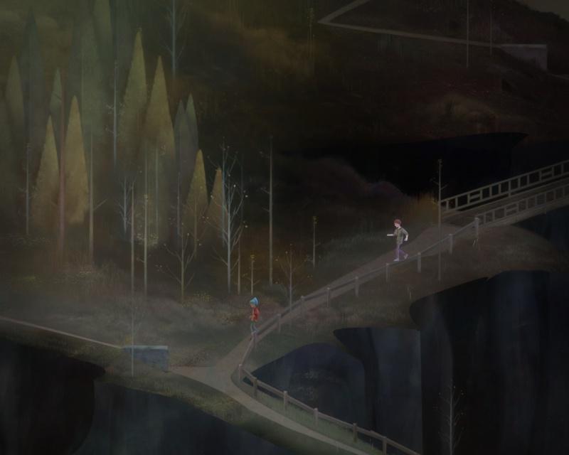 """Screen z gry """"Oxenfree"""" (źródło: rozgrywka własna)"""