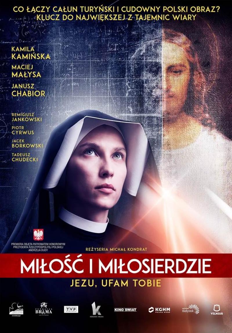 """Oficjalny plakat z filmu """"Miłość i miłosierdzie"""" (materiały prasowe/Kino Świat)"""