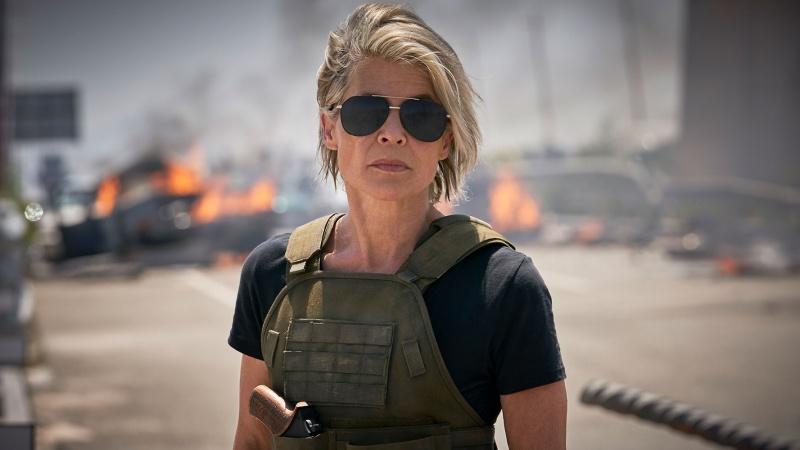 """Linda Hamilton (źródło: """"Terminator: Mroczne przeznaczenie""""/materiały prasowe)"""