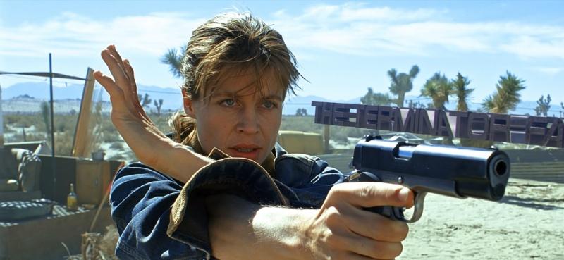 """Linda Hamilton jako Sarah Connor w """"Terminatorze 2"""" (materiały prasowe)"""