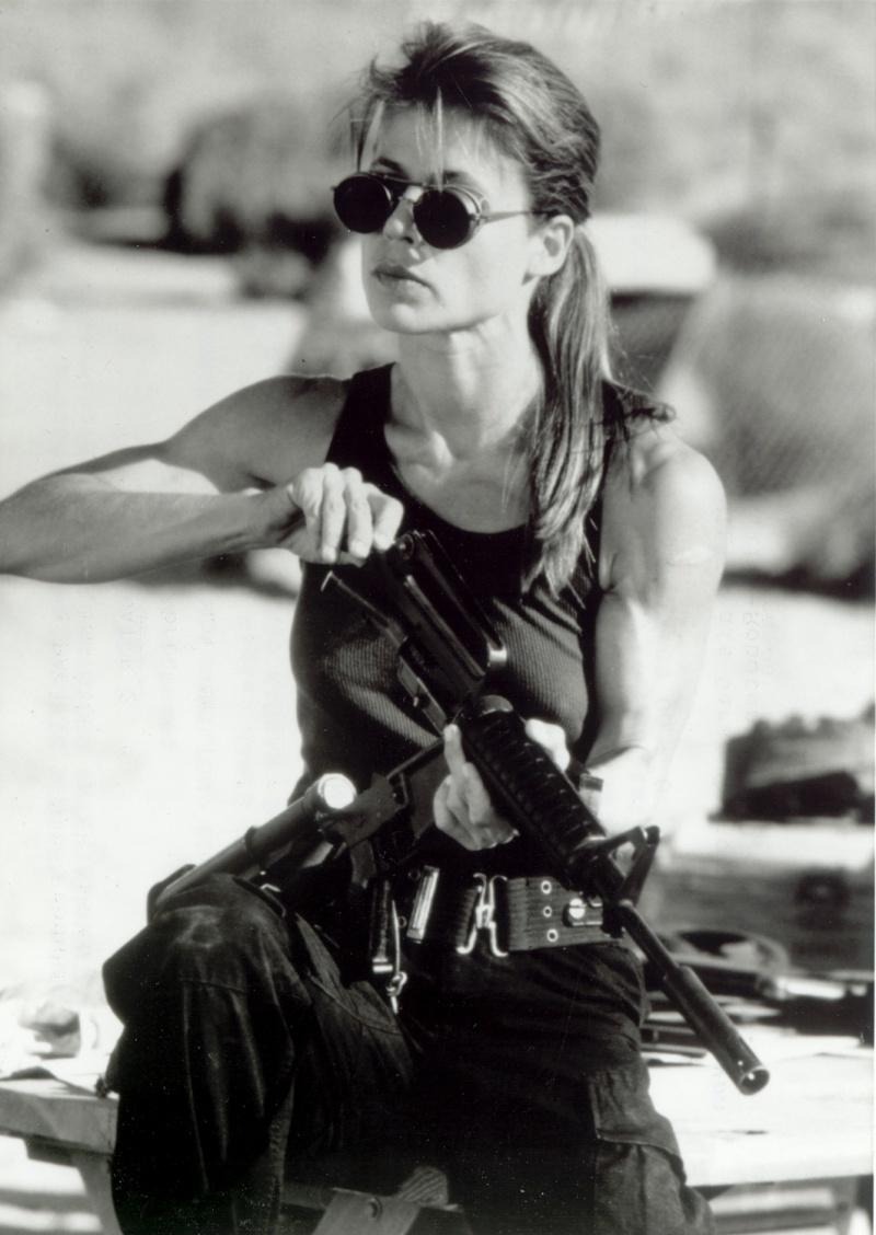"Linda Hamilton jako Sarah Connor w ""Terminatorze 2"""