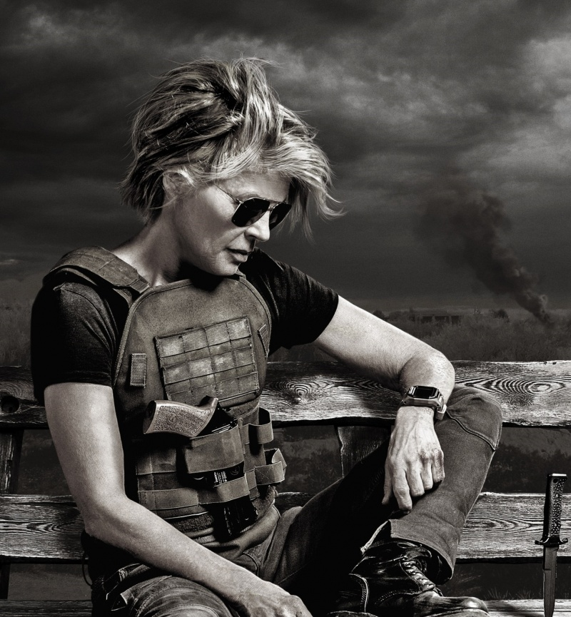 """Linda Hamilton jako Sarah Connor w filmie """"Terminator: Mroczne przeznaczenie"""" (materiały prasowe)"""