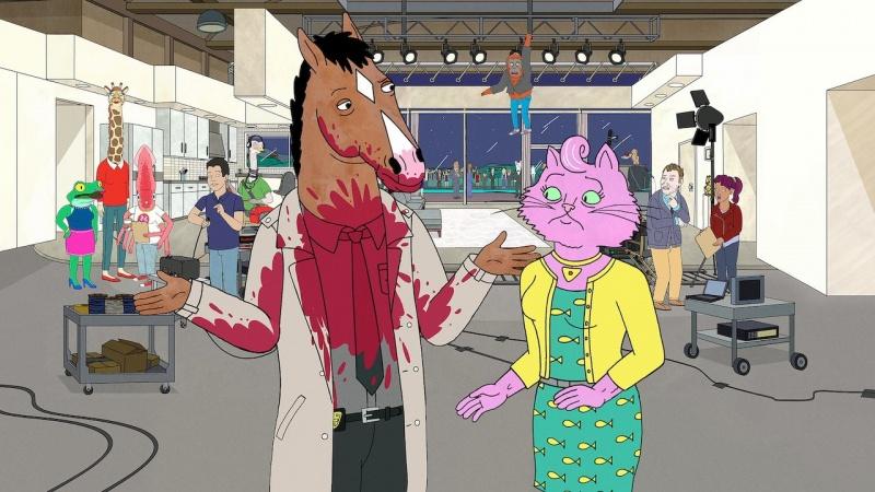 """Kadr z serialu """"BoJack Horseman"""" (źródło: materiały prasowe)"""