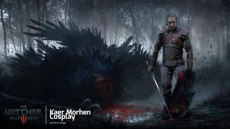 Marcin Skalski jako Geralt (grafika: Mateusz Małys)