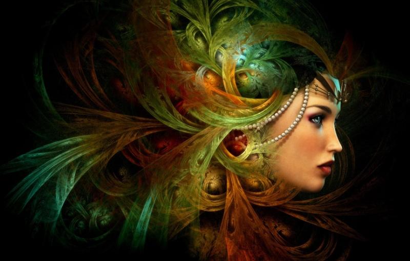 Współczesny malunek przedstawiający jedno z wyobrażeń bogini Nikkal (www.ancient-origins.net)
