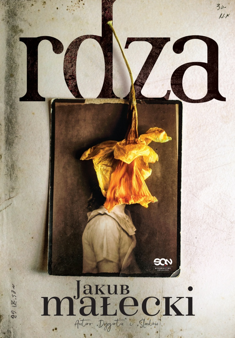 """Okładka powieści """"Rdza"""" (źródło: www.wsqn.pl)"""