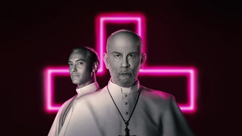 """Poster z serialu """"Nowy Papież"""" (materiały prasowe/HBO)"""