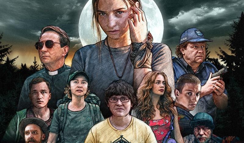 """Fragment oficjalnego plakatu do filmu """"W lesie dziś nie zaśnie nikt"""" ("""