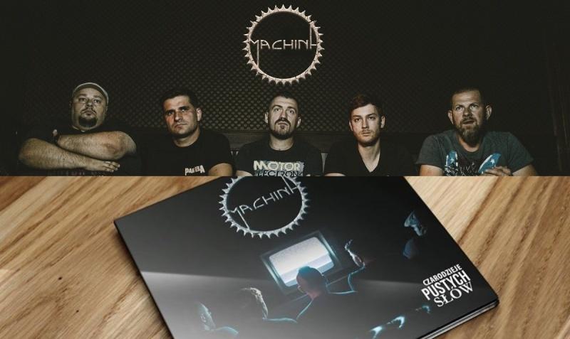 """Machina i Okładka albumu """"Czarodzieje Pustych Słów"""" (fot. materiały promocyjne)"""