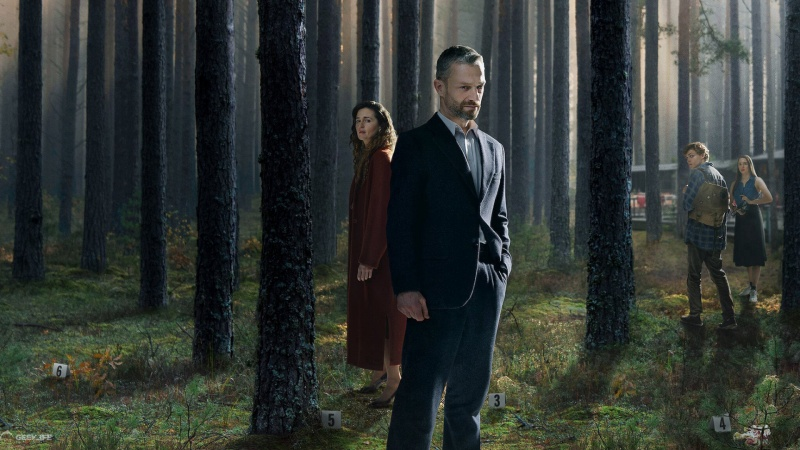 """Poster z serialu """"W głębi lasu"""" (źródło: Netflix)"""