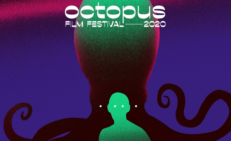 Fragment plakatu 3 edycji Octopus Film Festival (źródło: materiały promocyjne)