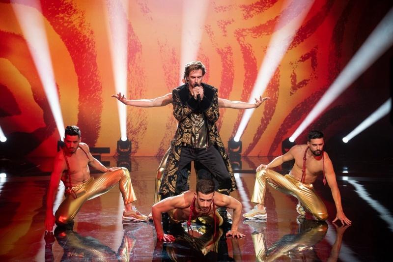 "Kadr z filmu ""Eurovision Song Contest: Historia zespołu Fire Saga"" (źródło: Netflix)"