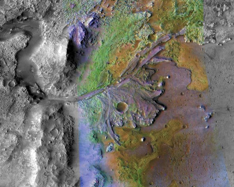 Krater Jezero (źródło: jpl.nasa.gov)