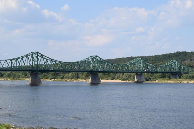 """100. rocznica """"Cudu nad Wisłą"""" we Włocławku - Wisła, w oddali Most im. Edwarda Śmigłego-Rydza (fot. PJ)"""