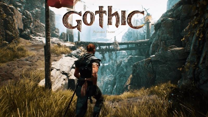 """Screen z gry """"Gothic Remake"""" (źródło: youtub.com)"""