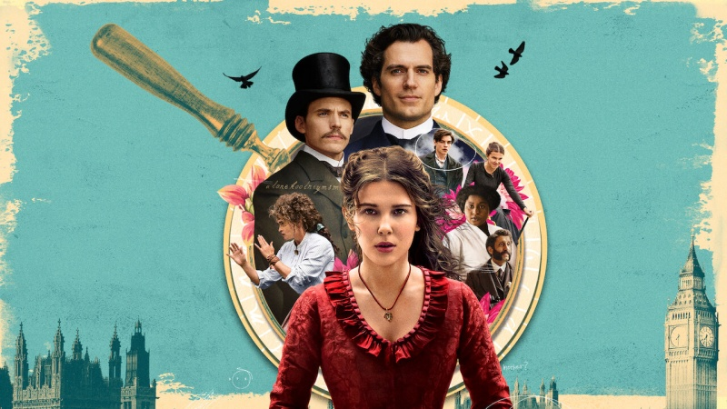 """Oficjalny poster z filmu """"Enola Holmes"""" (źródło: materiały prasowe/Netflix)"""