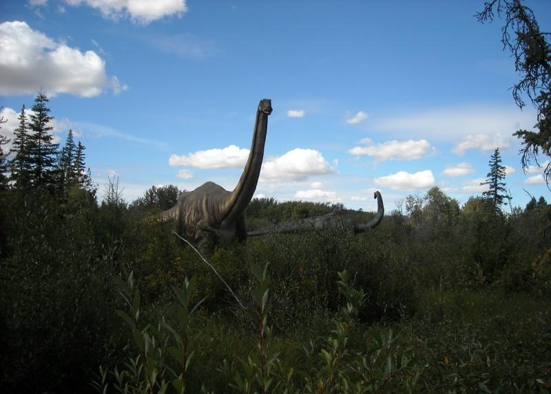 Jeden z potężnych roślinożernych dinozaurów (fot. PJ)