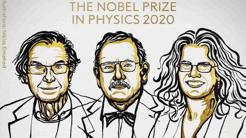 Laureaci w dziedzinie Fizyki - ilustracja (źródło: Niklas Elmehed/Twitter/Nobel Prize)