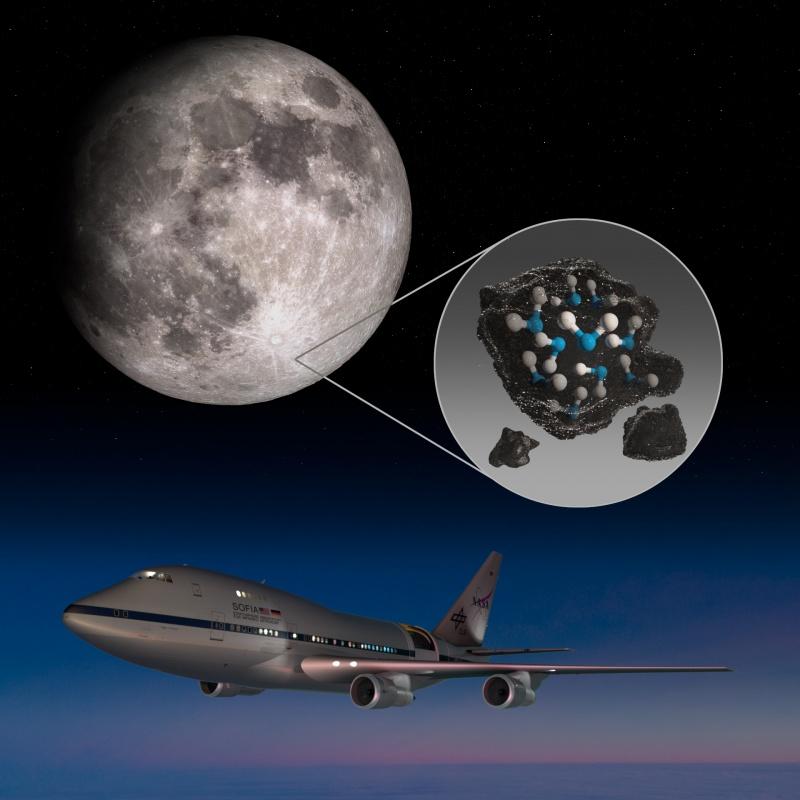 Woda na jasnej stronie Księżyca odkryta (źródło: nasa.gov)
