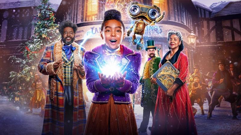 """Poster z filmu """"Pan Jangle i świąteczna podróż"""" (materiały prasowe/Netflix)"""