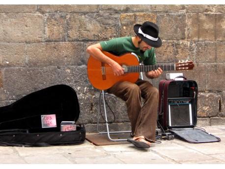 Pieniądze leżą na ulicy - artyści uliczni - pieniądze;artyści;sztuka;zabawa;talent;praca