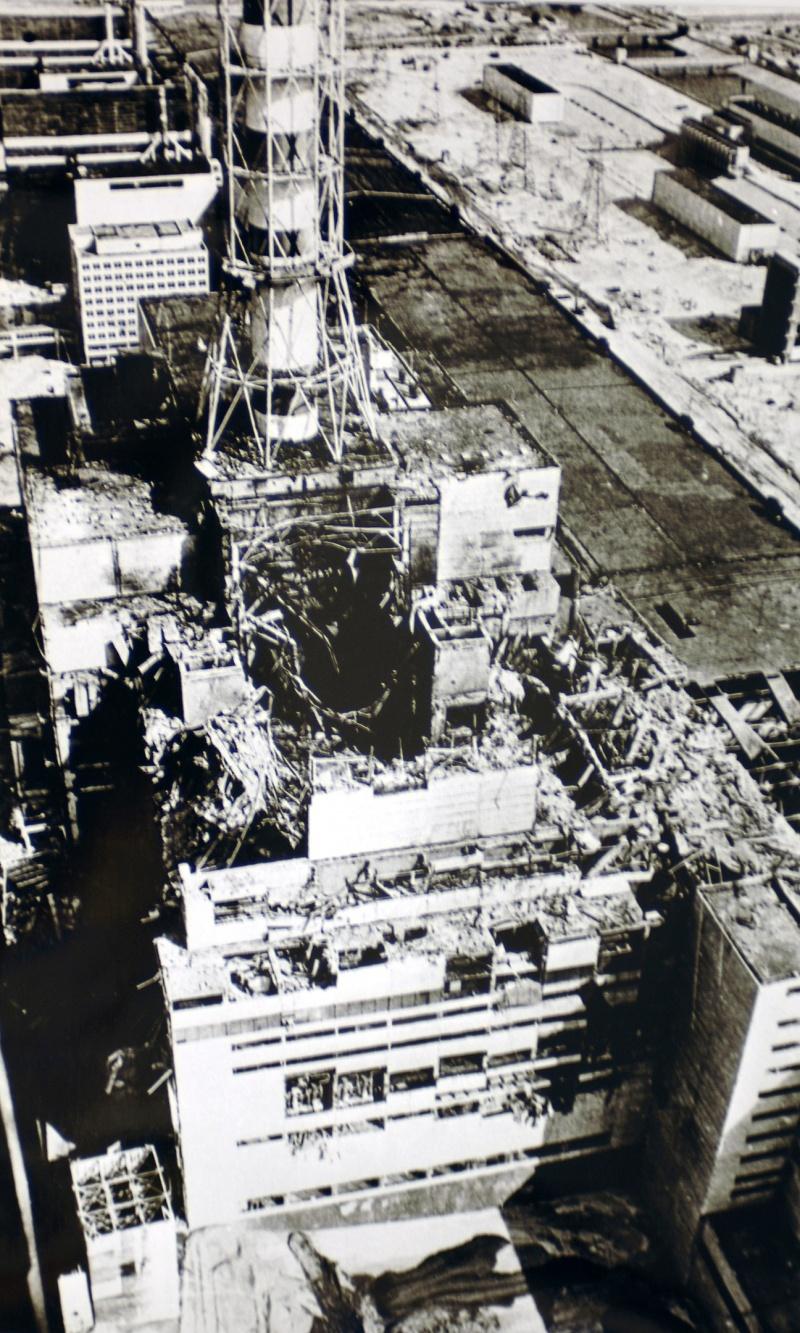 Reaktor po katastrofie (fot. IAEA Imagebank)