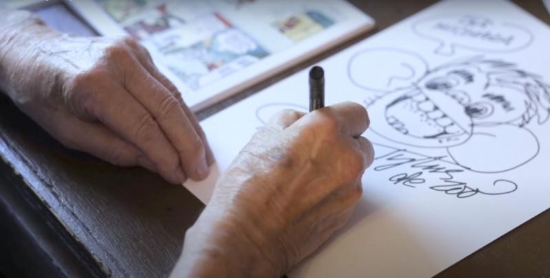 Papcio Chmiel w swoim żywiole (źródło: youtube.com/screenshot)