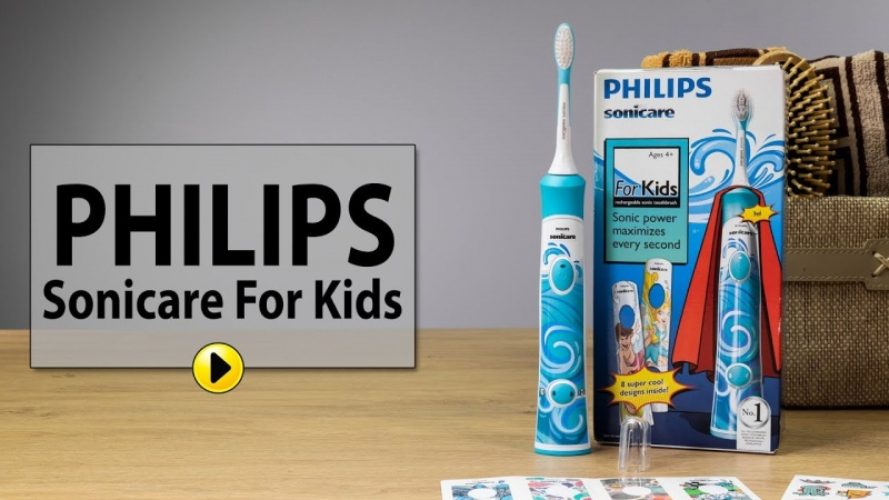Szczoteczka soniczna marki Philips (źródło: youtube.com/screenshot)