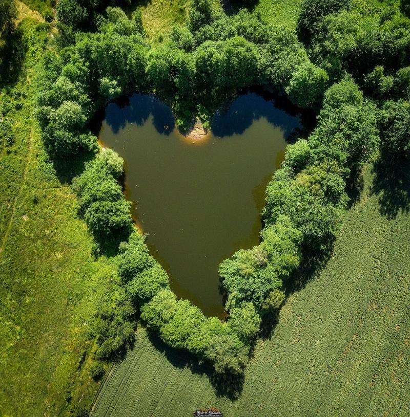 Piękne miejsce niedaleko domu Piotra, sfotografowane z drona - idealne dla zakochanych (fot. PZ)