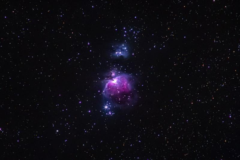 Wielka Mgławica w Orionie, znana też jako M42 (fot. PZ)