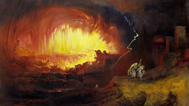 Zniszczenie Sodomy i Gomory, John Martin, 1832 (źródło: wikimedia.org)