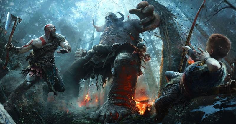 """Screen art z gry """"God of War"""" (źródło: materiały prasowe)"""