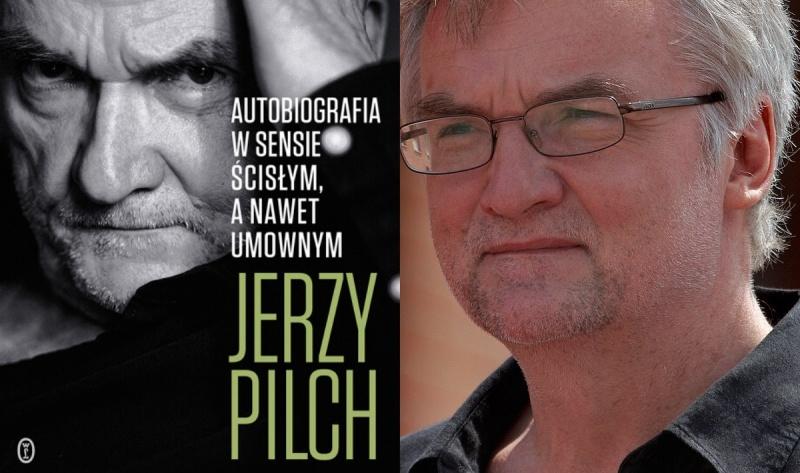 Okładka (źródło: www.wydawnictwoliterackie.pl); Jerzy Pilch (źródło: wikimedia.org)
