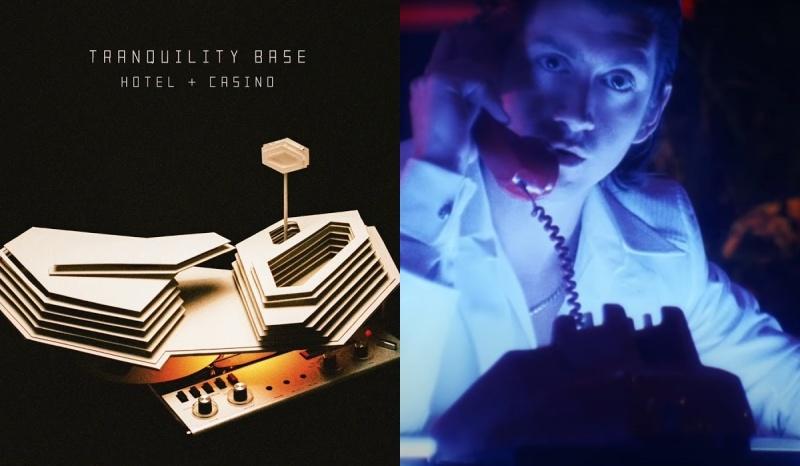 """Okładka """"Tranquility Base Hotel and Casino"""" (źródło: materiały prasowe); Kadr z oficjalnego teledysku (źródło: youtube.com)"""