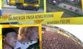 Napływ Żółtej Fali Rockowego Grania: Inwazja Mocy 1995-2000 - Inwazja Mocy;wielkie muzyczne wydarzenie;koncerty w wielu miastach;największa trasa koncertowa;Scorpions;RMF FM;radio;sześć edycji;festiwal;700 tysięcy widzów;1995;2000;żółta fala;lato;rockowe granie;żółto-niebieski konwój;21 lat