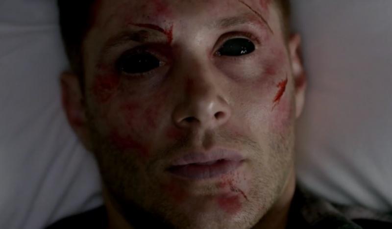 """Opętany przez demona (źródło: kadr z serialu """"Supernatural"""")"""
